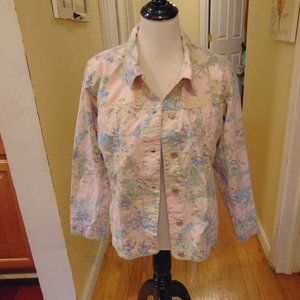 *512 Denim& Co. Floral Denim Jacket
